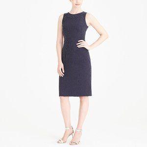 J. CREW Polka Dot Sheath Dress Navy Blue {LL27}